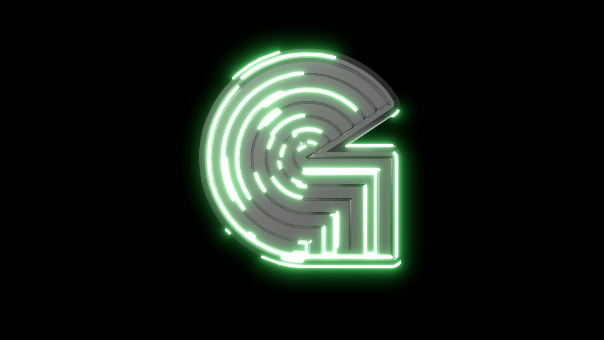 G 3D Neon Logo