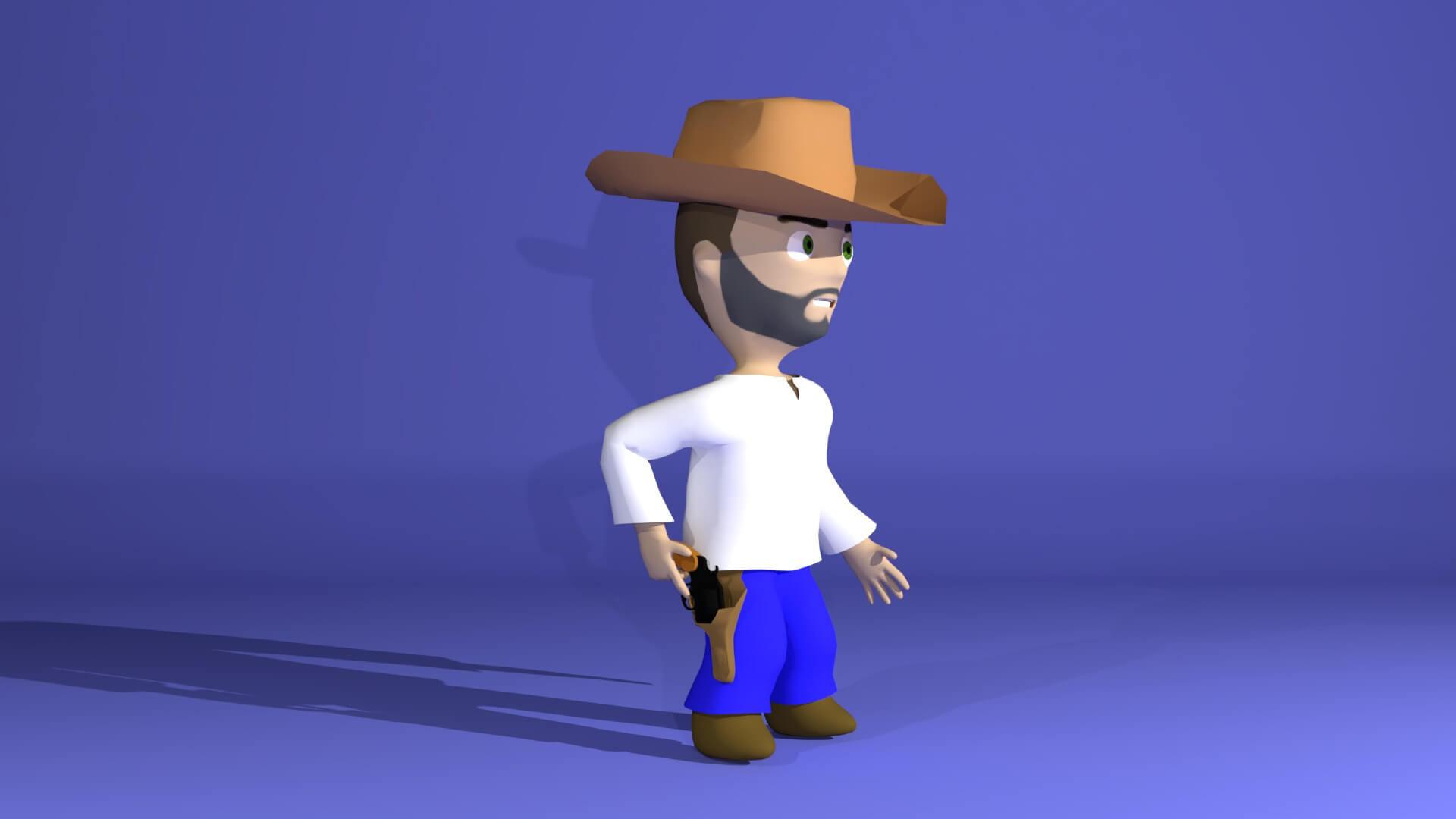 Cowboy Game Charakter
